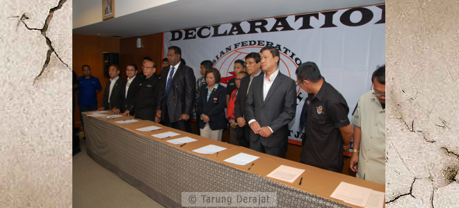 Preparation of the signing of the Declaration of the Establishment of AFTD (Asian Federation of Tarung Derajat)